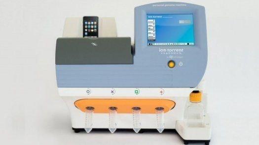 图为Ion Torrent公司生产的个人染色体检测仪