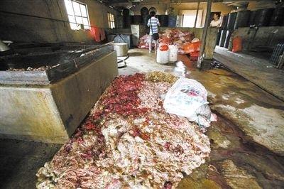 """9月16日,昆明安宁市公安局郎家庄派出所民警发现一涉嫌制造""""地沟油""""的黑工厂。"""