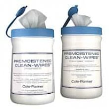 Cole-Parmer Clean-Wipes, 70% Alcohol/30% DI Water; 100/Canister